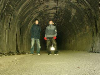 隧道って感じでしょう?