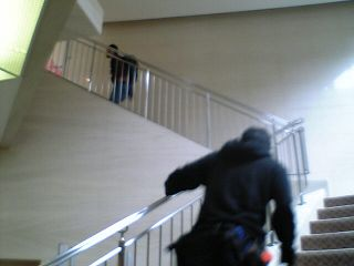 建物を徘徊するメンバーたち